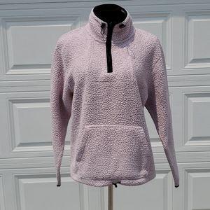 PINK size medium sharpa 3/4 zip up jacket